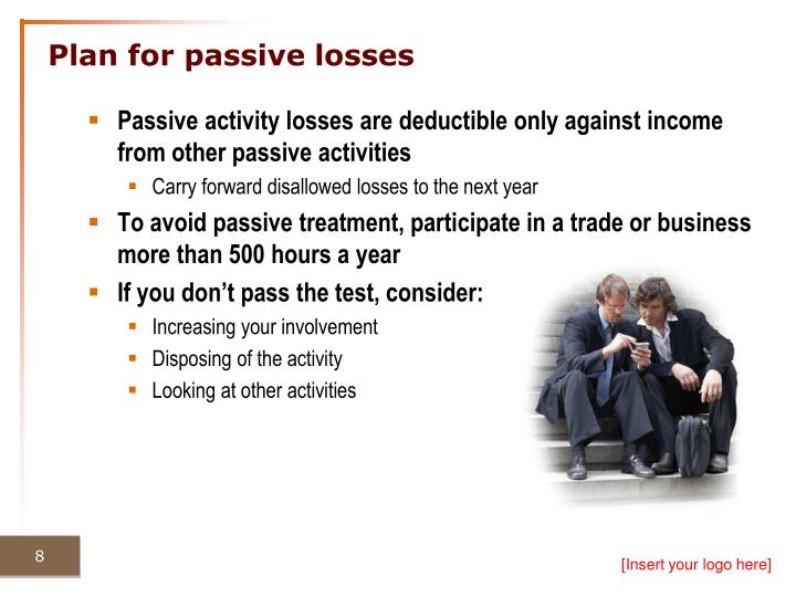 Plan for passive losses