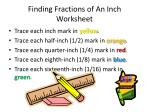 finding fractions of an inch worksheet