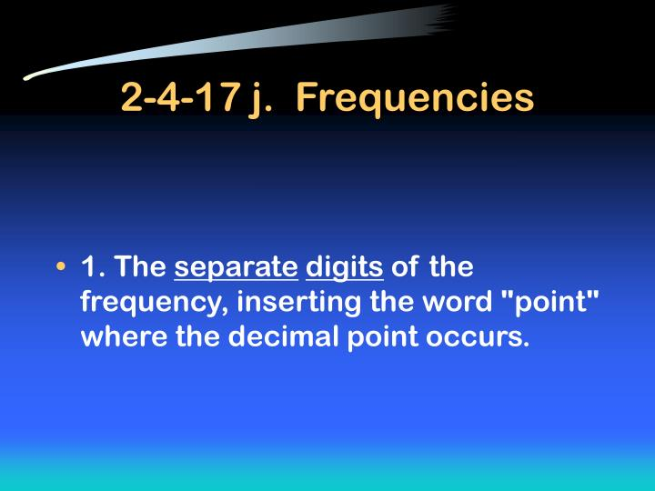 2-4-17 j.  Frequencies