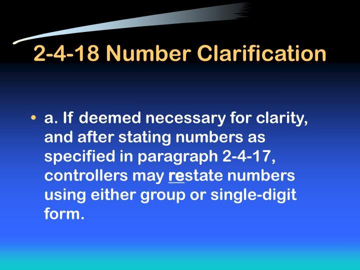 2-4-18 Number Clarification
