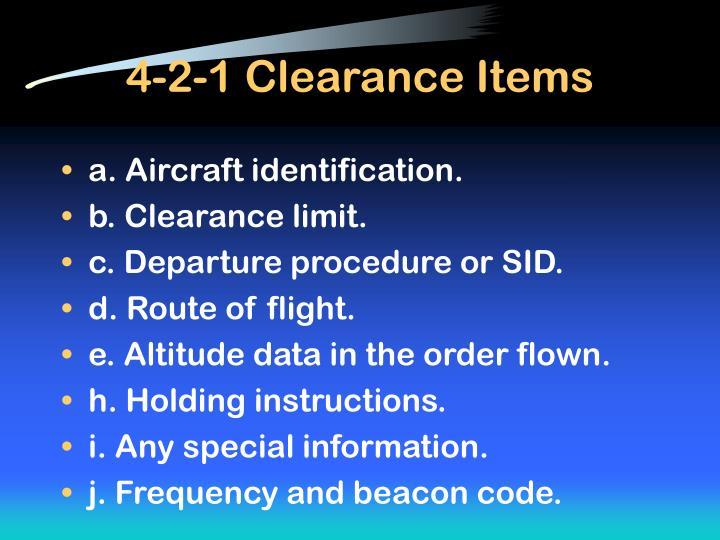 4-2-1 Clearance Items
