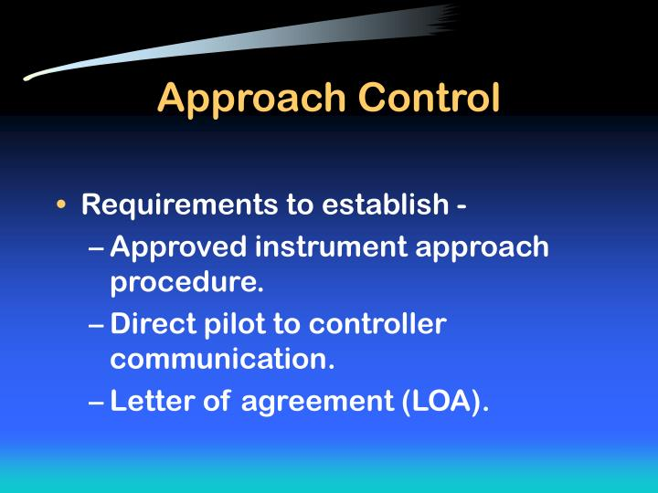 Approach Control