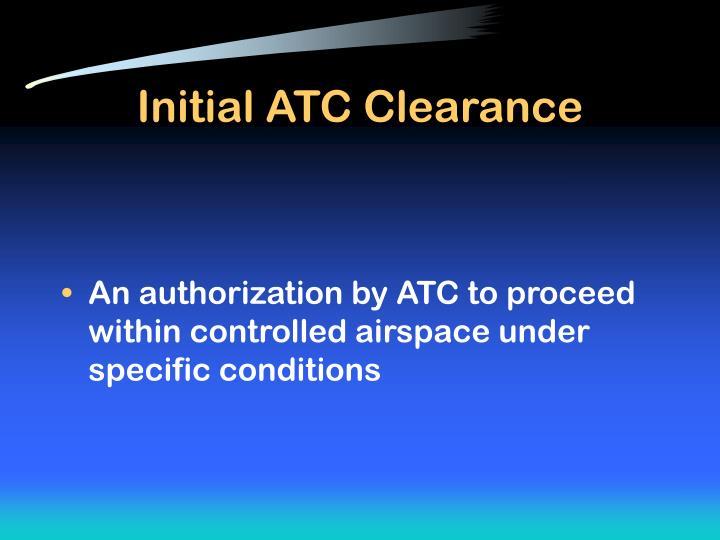 Initial ATC Clearance
