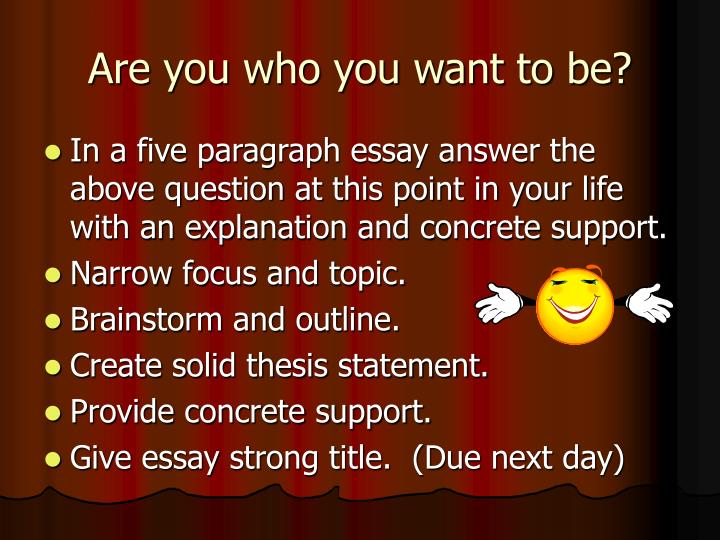Are you who you want to be?