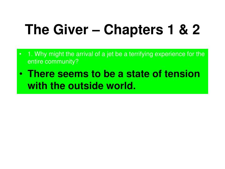 The giver chapters 1 21