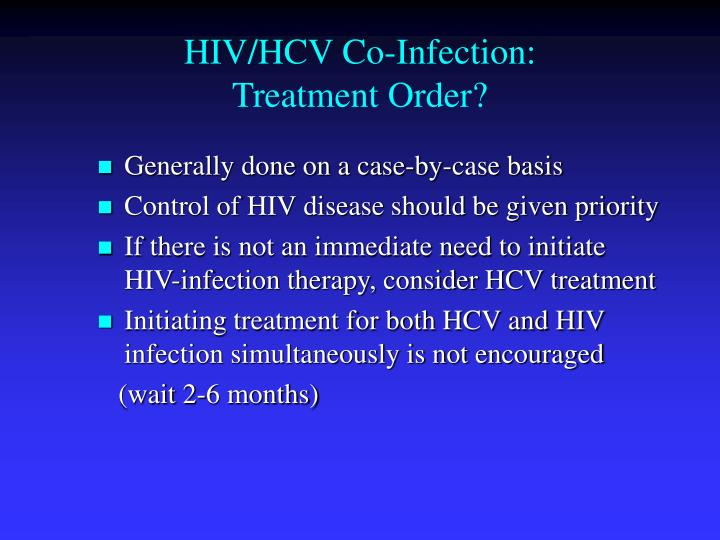 HIV/HCV Co-Infection: