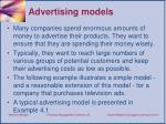 advertising models