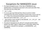 exceptions for manqoos noun