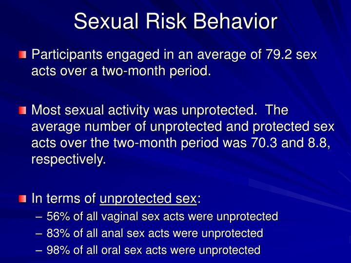 Sexual Risk Behavior