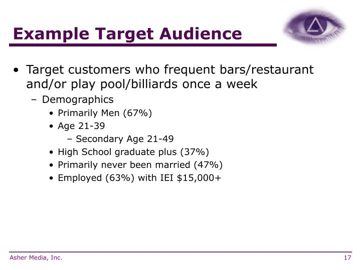Example Target Audience