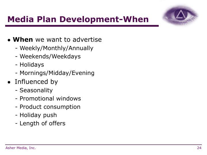 Media Plan Development-When