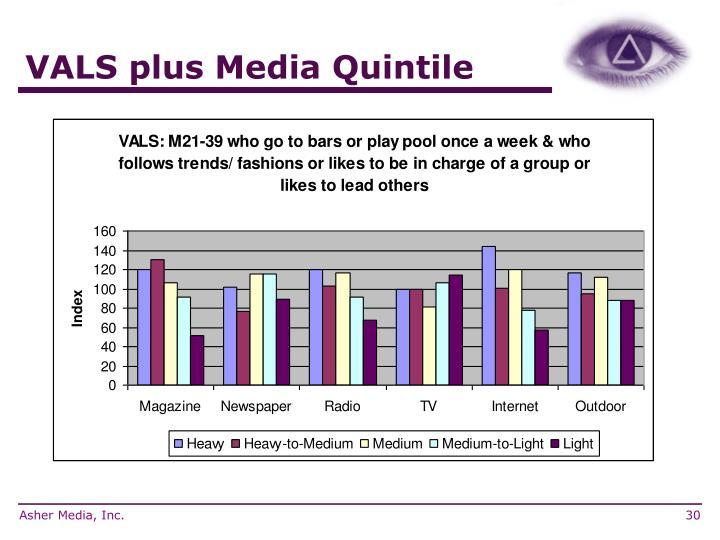 VALS plus Media Quintile