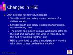 changes in hse