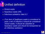 unified definition