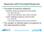questions with precoded responses1