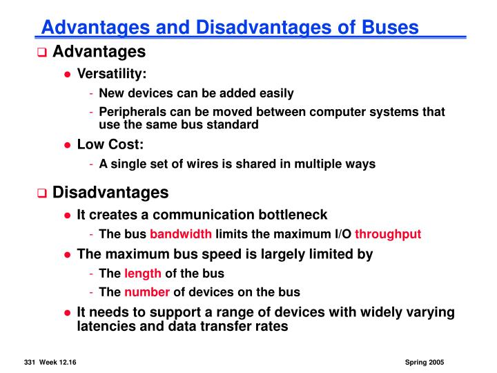 Advantages and Disadvantages of Buses
