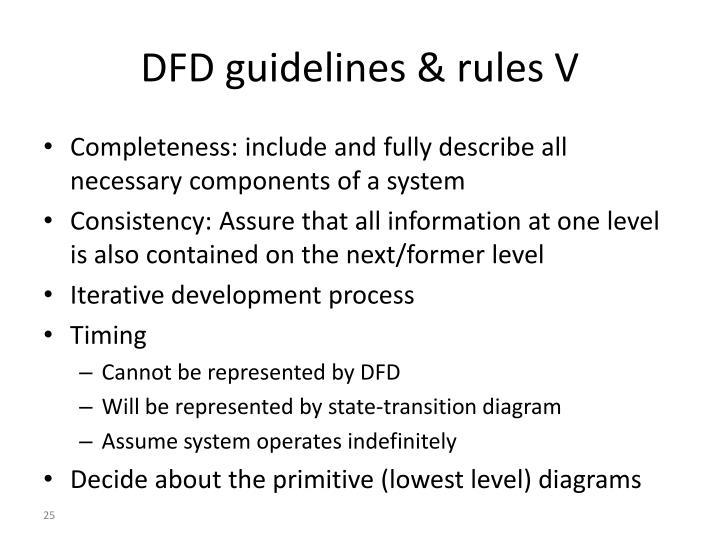 DFD guidelines & rules V