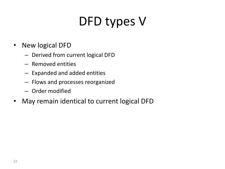 DFD types V
