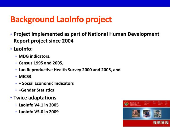 Background laoinfo project