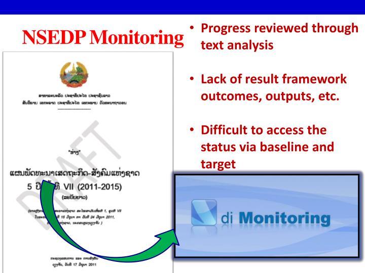 Progress reviewed through text analysis