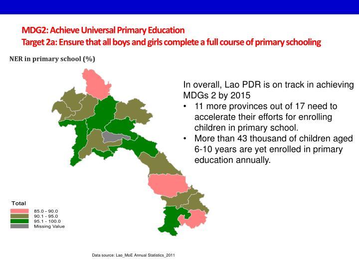 MDG2: Achieve Universal Primary Education