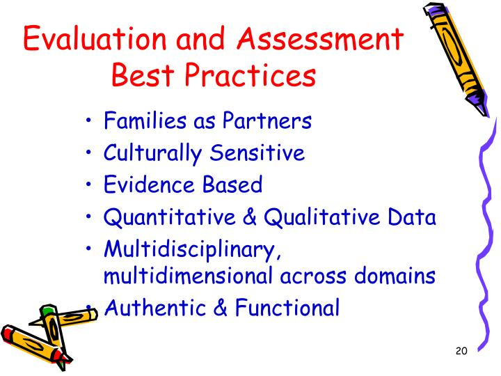 Evaluation and Assessment Best Practices