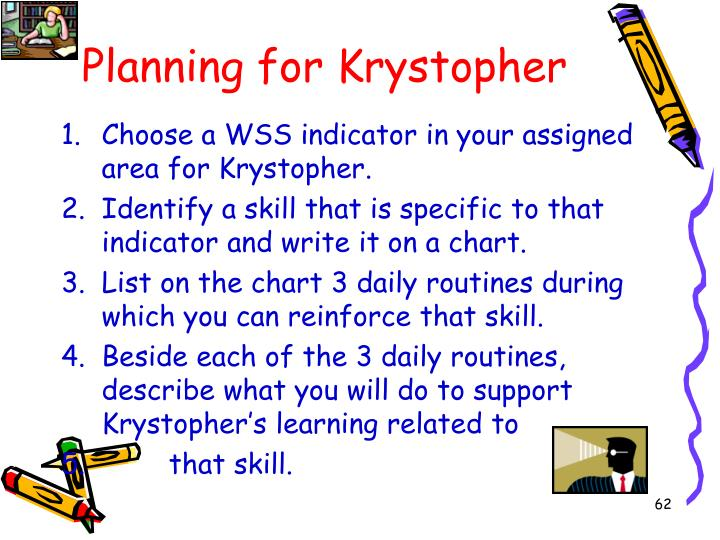 Planning for Krystopher