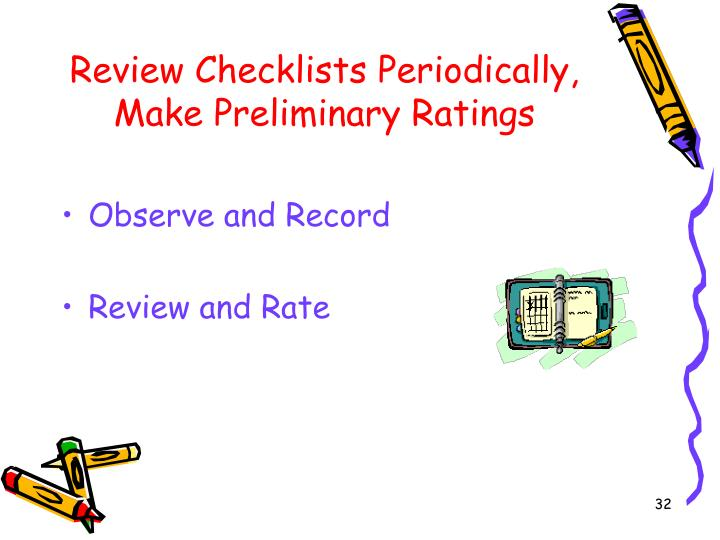 Review Checklists Periodically,
