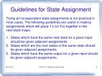 guidelines for state assignment