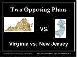 two opposing plans