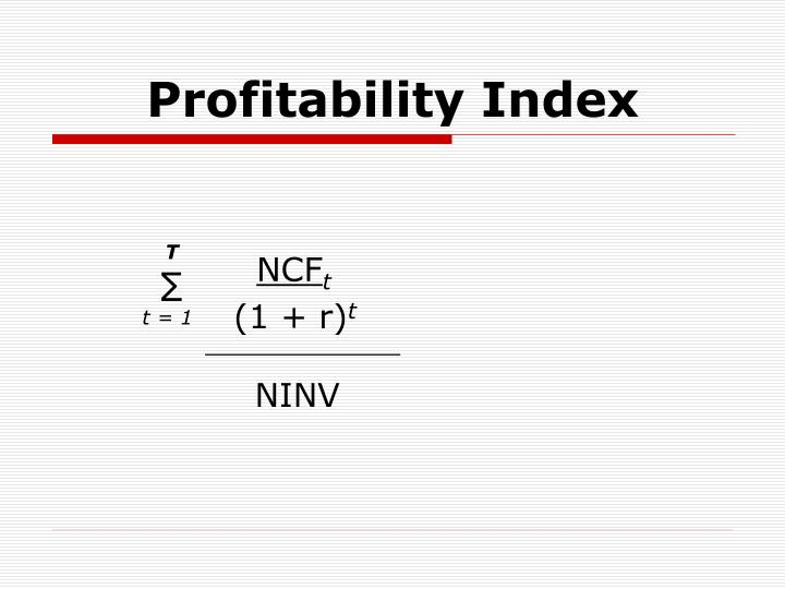 Profitability Index