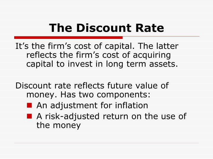 The Discount Rate