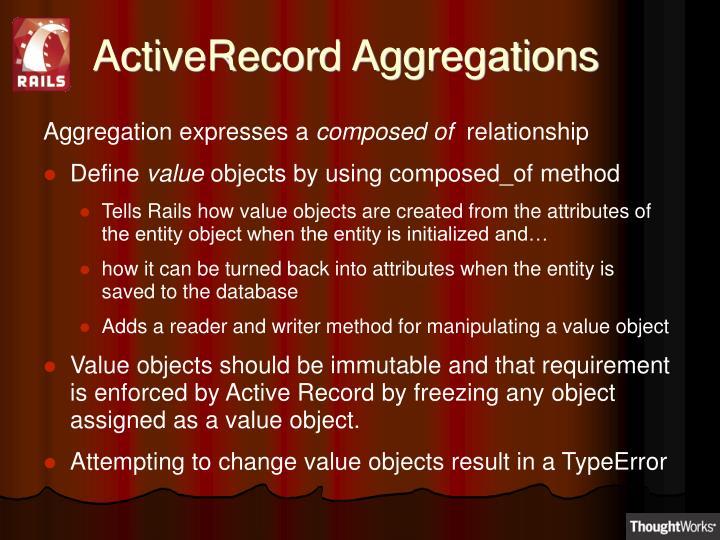 ActiveRecord Aggregations