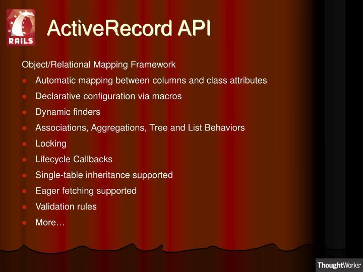 ActiveRecord API