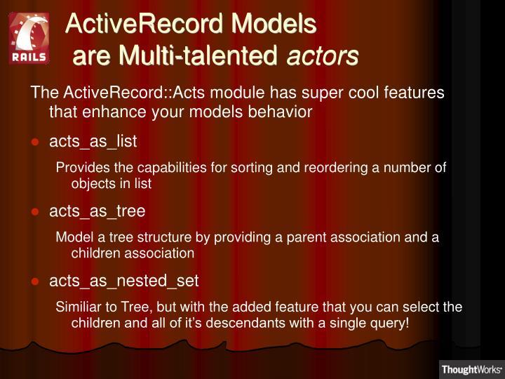 ActiveRecord Models