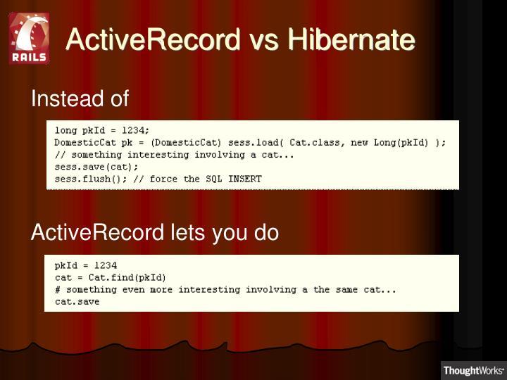 ActiveRecord vs Hibernate