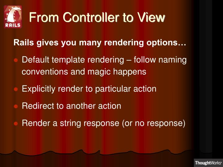 From Controller to View