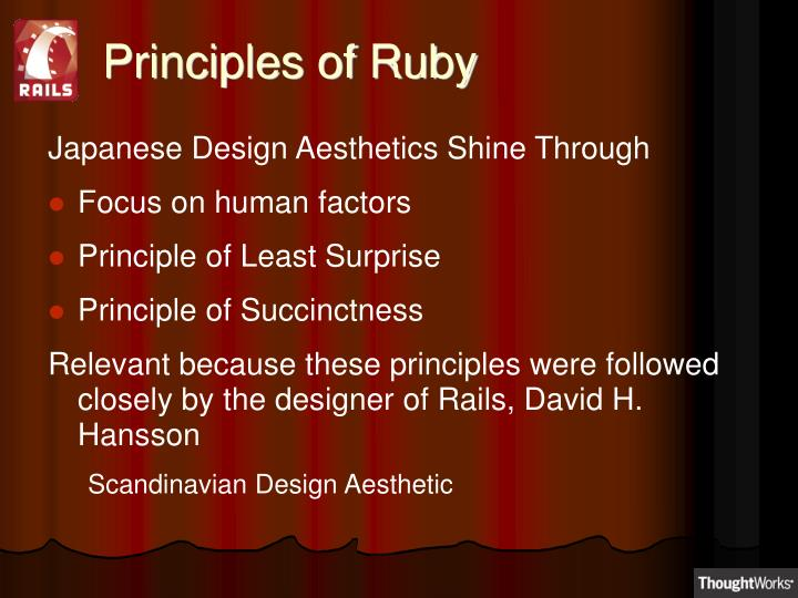 Principles of Ruby