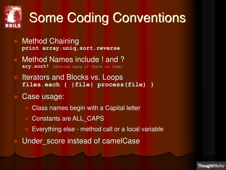 Some Coding Conventions