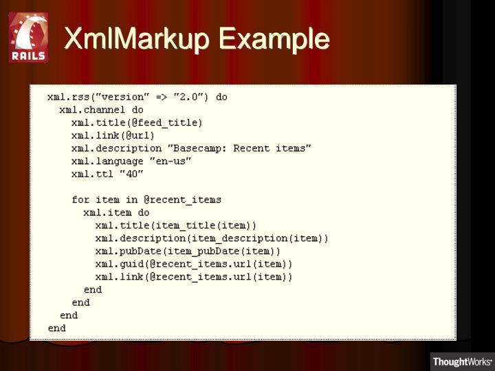 XmlMarkup Example