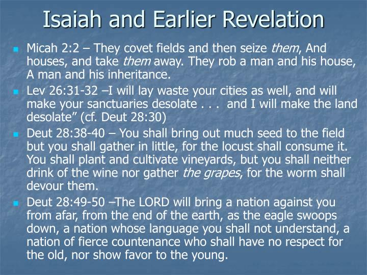 Isaiah and Earlier Revelation