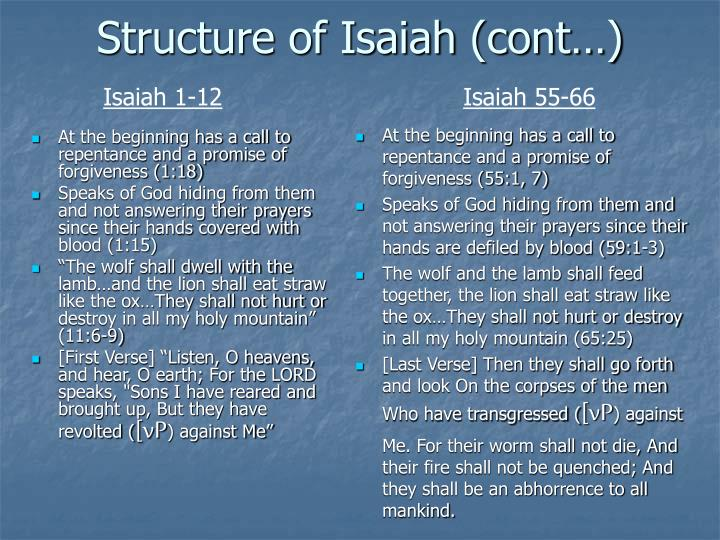Structure of Isaiah (cont…)