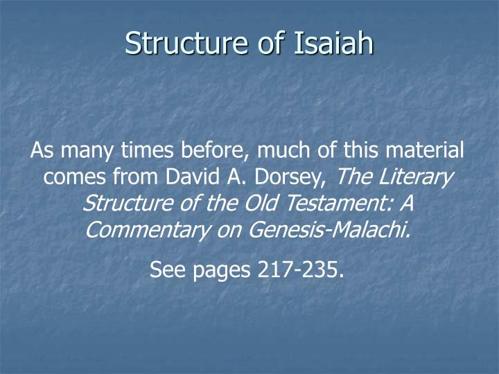 Structure of Isaiah