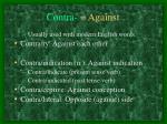 contra against