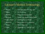 layman s medical terminology