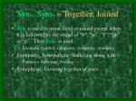 syn sym together joined