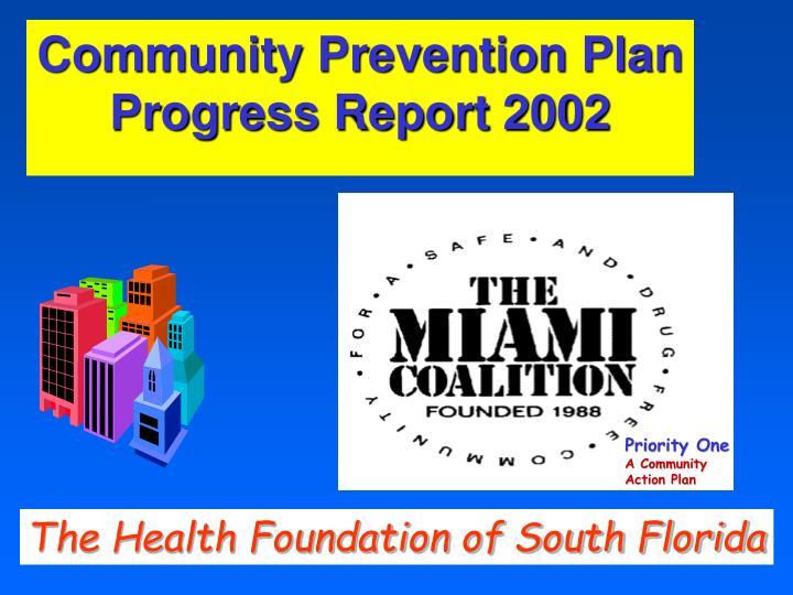 Community Prevention Plan Progress Report 2002