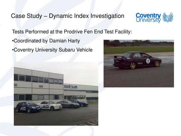 Case Study – Dynamic Index Investigation