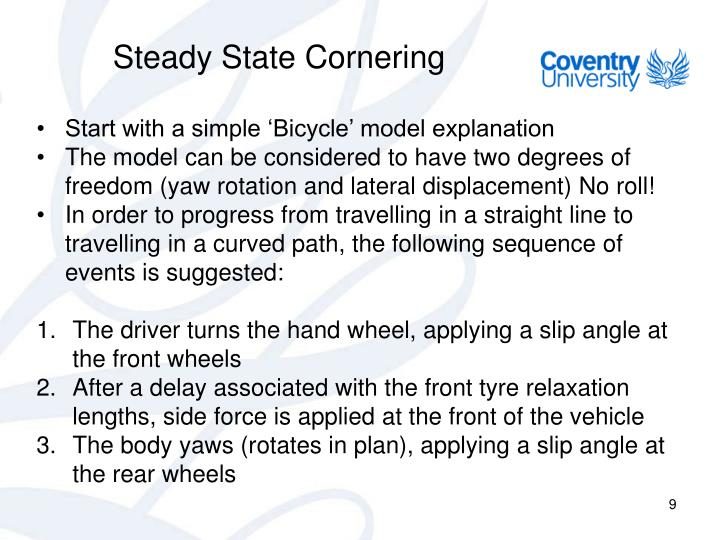 Steady State Cornering