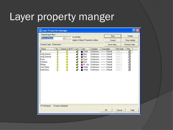 Layer property manger
